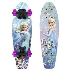 Disney Frozen Wood Cruiser Kids' Skateboard - Elsa Frozen Heart