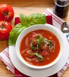 Tomato Basil Soup in 15 minutes