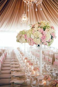 Blush Pink Centerpieces | Blush pink