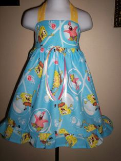 I bought this dress for Bella's birthday.  She wants a SpongeBob party.