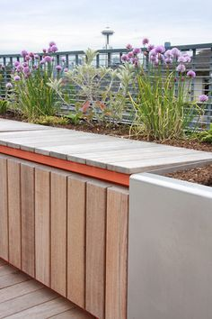 garden bench with storage underneath. For the front of the house? Garden Storage Bench, Storage Benches, Garden Benches, Bike Storage, Garden Seating, Lawn And Garden, Garden Paths, Home And Garden, Garden Projects