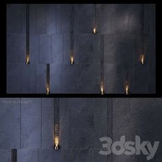 models: Other decorative objects - Decorative wall _ Stone Wall Design, Feature Wall Design, Lobby Interior, Interior Walls, Wall Unit Designs, Home Luxury, Compound Wall, Boundary Walls, Facade Lighting