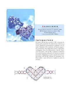Beaded Heart Ring tutorial swaroski click on diagram to enlarge