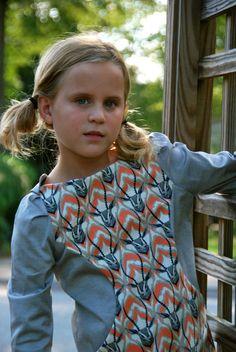 Size 3 4 5 6 7 8 girls Fall Dress   modern by SchoolHouseFrock