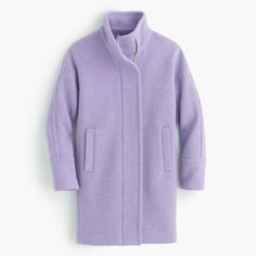 J.Crew stadium-cloth cocoon coat. Looks super soft.