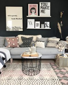 Evening my dears🤗 I've been out on the road today measuring shops, as you do😴 But still it's always darn nice not to be in the office isn't… New Living Room, Home And Living, Living Room Furniture, Living Room Decor, Interior Design Trends, Apartment Living, Living Room Designs, Home Decor, Videos