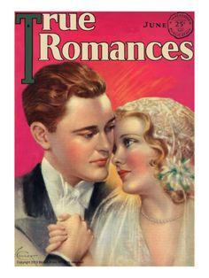 True Romances Vintage Magazine - June 1931 - Painted by Jules Cannert artdotcom