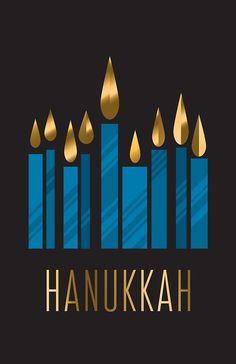 "'Happy Hanukkah Design, Candles on Black Background' by FinnBear ""Happy Hanukkah Design, Candles on Black Background"" by FinnBear"