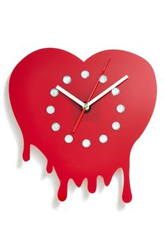 WORLD FRIENDLY WORLD 'Melting Heart' Wall Clock available at #Nordstrom