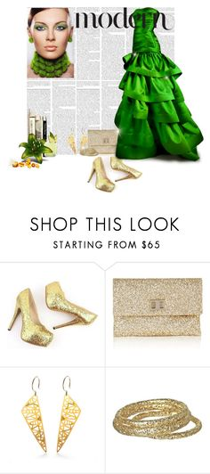"""Think Green"" by mariloo ❤ liked on Polyvore featuring Anya Hindmarch, Reem Acra, Kyler by Joy O, Citron and Kendra Scott"