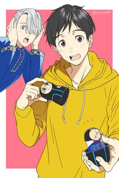 Tags: PNG Conversion, 678 (Artist), Yuri!!! On Ice, Katsuki Yuuri, Victor Nikiforov