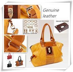 Design Upscale Hardware Crocodile Pattern First Layer of Cowhide Women's Genuine  Leather Handbag One Shoulder Cross-body   Bag $68.00