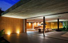 Open Plan, Contemporary Fireplace, house, Sao Paulo, Brazil by Studio Contemporary Architecture, Interior Architecture, Interior Design, Studio Mk27, World Architecture Festival, Casa Cook, Exposed Concrete, Home Studio, Modern House Design