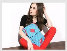 Korean Preppy Style Square Canvas Backpacks Panelled for Girls