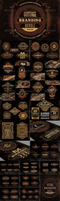 Vintage Branding Bundle  — PSD Template • Only available here ➝…