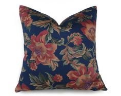 Navy Blue Pillow Covers American Southwest by PillowThrowDecor