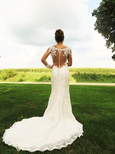 Gorgeous illusion back bridal gown from Storybook Ending Bridals