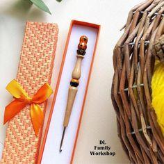 Your place to buy and sell all things handmade Pumpkin Faces, Cute Pumpkin, Little Pumpkin, Wooden Crochet Hooks, Hand Carved, Hand Painted, Crochet Supplies, Wooden Handles, Handmade Wooden