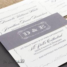 Printable Wedding Invitation  The Grace Collection by HeSawSparks, $35.00
