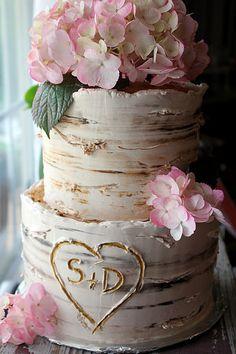 birch engagement cake | Flickr - Photo Sharing!