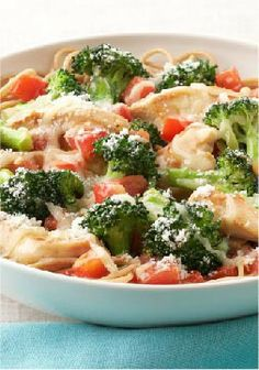 Parmesan, Chicken & Broccoli Pasta for Two – Chicken and broccoli are served on a bed of whole-wheat pasta in this weeknight-easy dish for two. Sprinkle with Parmesan and prepare for compliments.