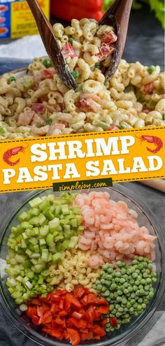An easy summer recipe for BBQs or picnics! Tossed in the most delicious dressing, this cold Shrimp Pasta Salad is the BEST. Enjoy as a delicious side dish for your 4th of July food ideas! Save this… Best Pasta Salad, Pasta Salad Italian, Pasta Salad Recipes, Healthy Salad Recipes, Great Recipes, Favorite Recipes, Simple Recipes, Popular Recipes, Fish Recipes