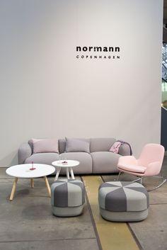 Northmodern Furniture Fair | Spring 2015 | Normann Copenhagen | Era Lounge chair, Tablo table, Circus pouf and Swell Sofa