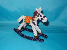 Beaded Ornament Hanger Free Patterns | Beaded horse 3D Beaded Animal Figurine sitter hanger ornament