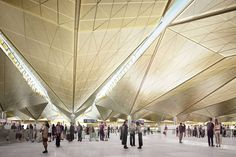 polkovo airport by grimshaw architects