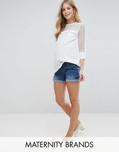 Bandia Maternity Denim Short With Removable Bump Band