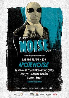 FLORIPA NOISE 2014 poster created by Balaclava Studio.