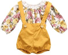 3PCS Toddler Baby Girls Suit Set Sleeveless Wideflower Cross Vest Floral Top Ruffle Denim Shorts with Floral Headband