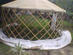 Picture of Overview of the parts and process of Building Your Own Yurt for Camping or Emergency Shelter.