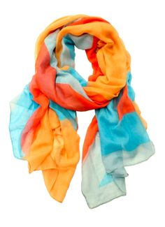 Color Blocks scarf spring collection 2014 http://www.printedvillagewholesale.com/