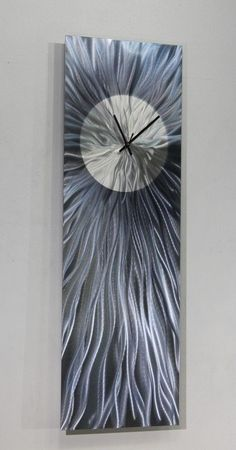 Metal Abstract Modern Wall Art Clock Sculpture Contemporary Home Decor Jon Allen #Statements2000JonAllenMetalArt
