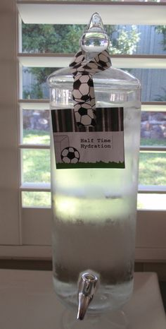 "Photo 1 of 21: Soccer - green, black & white / Birthday ""Harris' Soccer 2nd Birthday"" 