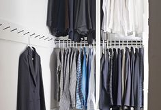 "How to Hang  Whatever your closet space, Wolfman advises ""potentializing all the storage possibilities"" by making use of multiple levels (..."