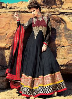 Charming Black Patch Border And Resham Work Net Party Wear Anarkali Suit, Product Code : 3467, Shop now : http://www.sareesaga.com/charming-black-patch-border-and-resham-work-net-party-wear-anarkali-suit-3467, Email :support@sareesaga.com, What's App or Call : +91-9825192886