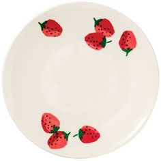 kate spade new york Strawberries Accent/Salad Plate ($13) ❤ liked on Polyvore featuring home, kitchen & dining, dinnerware, red, red salad plates, kate spade, strawberry dinnerware, kate spade salad plates and kate spade dinnerware
