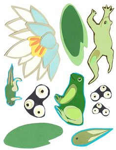 Hop Into Spring: Tadpole to Frog Placemat |Moomah the Magazine
