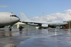 German Luftwaffe Airbus A310 MRTT (Multi Role Tanker Transport) of Flugbereitschaft BMVg based at Köln-Wahn, parked with other Italian & Dutch tankers, at Leeuwarden, northern Holland. Aircraft together for first scheduled European Air Refueling Training (EART), & in support of Exercise Frisan Flag 2014.