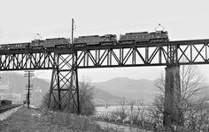 NW, Glen Lynn, VA, 1961 Three ex-Viriginan Railway electric locomotives lead an…