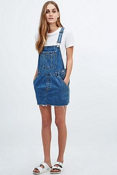 Urban Renewal Vintage Re-Made Denim Dungaree Dress - Urban Outfitters
