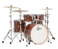 "Gretsch Catalina Maple CM1 5-Piece Shell Pack w/ 20"" Bass Drum - Walnut Glaze"