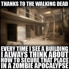 And I always figure out my exits when I walk inside somewhere. Or check my surroundings when I go outside. It's sad really...