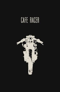 Cafe Racer Motorcycle Poster Black 11x17 in by InkedIron on Etsy