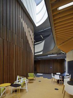Burwood Highway Frontage Building By Woods Bagot At Deakin University Melbourne Austalia Retail