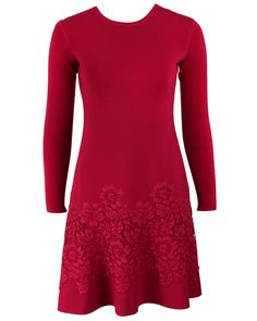 Valentino Long Sleeved Dress With Lace