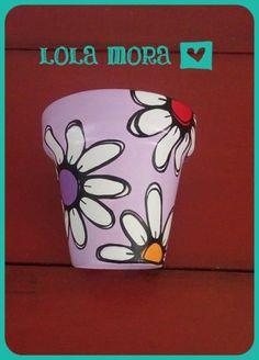 Flower Pot Art, Flower Pot Design, Clay Flower Pots, Clay Pots, Painted Plant Pots, Painted Flower Pots, Pottery Painting Designs, Paint Designs, Pots D'argile