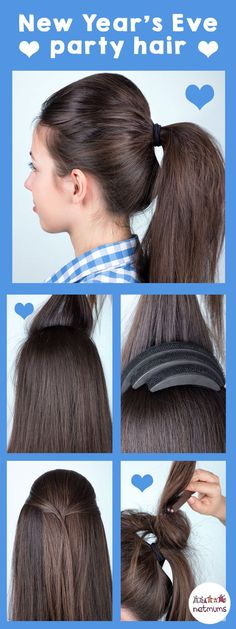 New Year's Eve hairstyle ideas - If you're looking for hair ideas for New Year's Eve, why not try this easy tutorial.